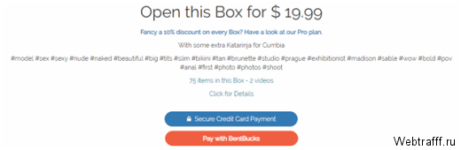 Bentbox – продавай свои эротические фото и видео